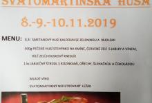 Svatomartinská husa 08.11.2019 - 10.11.2019 Hospůdka Na Kasárnách Veselice Moravský kras